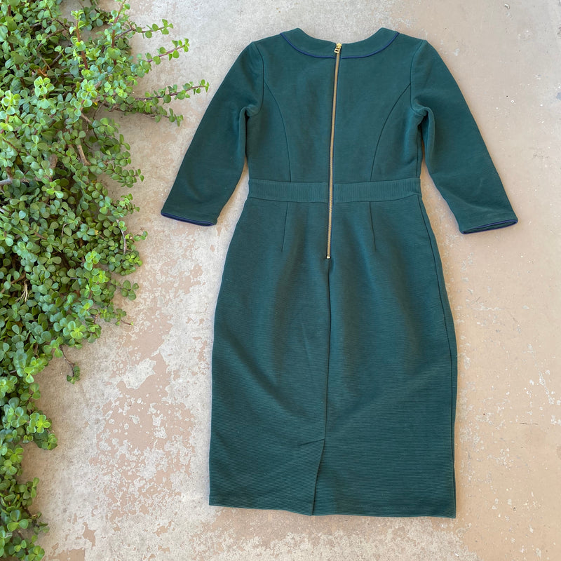 Boden Green Sheath Dress, Size US 6R
