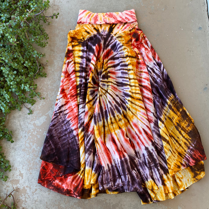 Seasons Wide Leg Tie Dye Pants, Size Medium