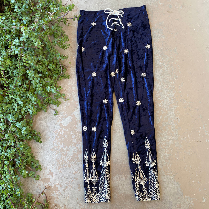 LENNI The Label Velvet Pants, Size US 8