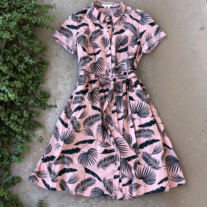 Boden Tropical Shirt Dress | Size 10P