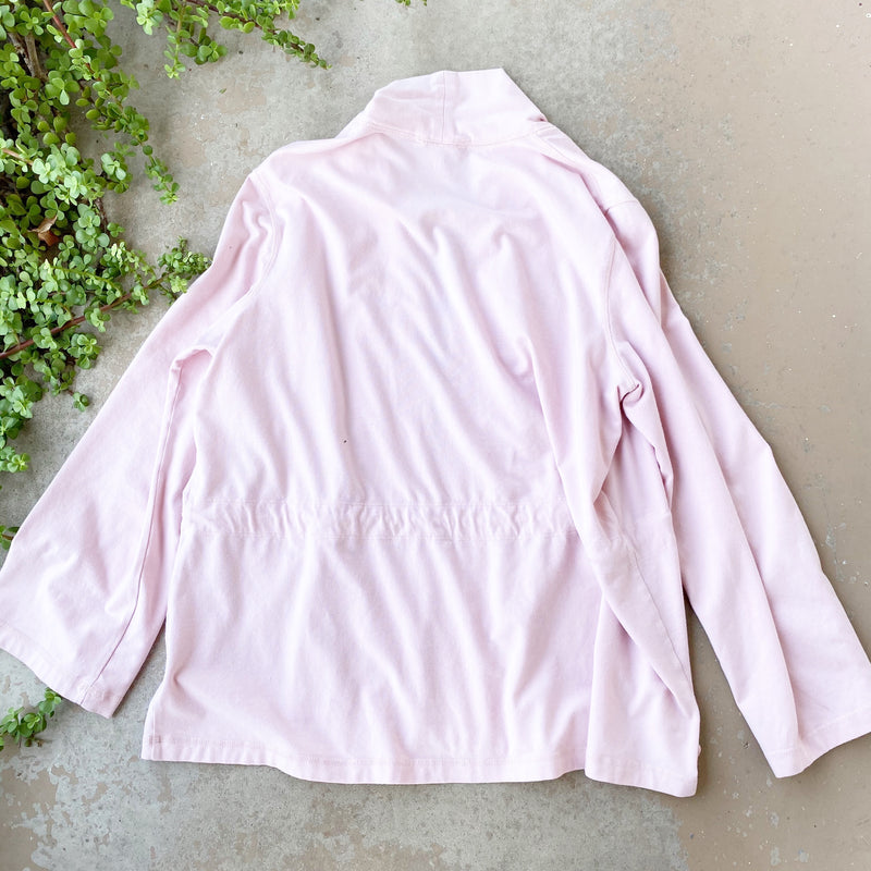 Eileen Fisher Pink Open Front Cardigan, Size XL
