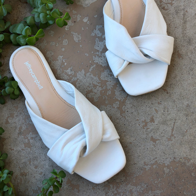 Jeffrey Campbell White Sandals, Size US 8