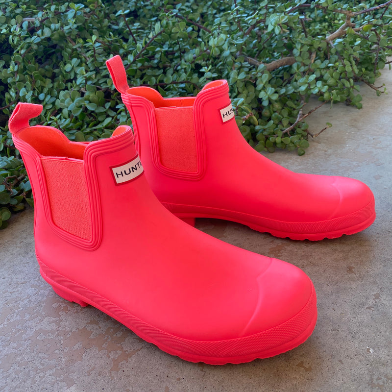 Hunter Bright Ankle Rain Boots, Size US 11