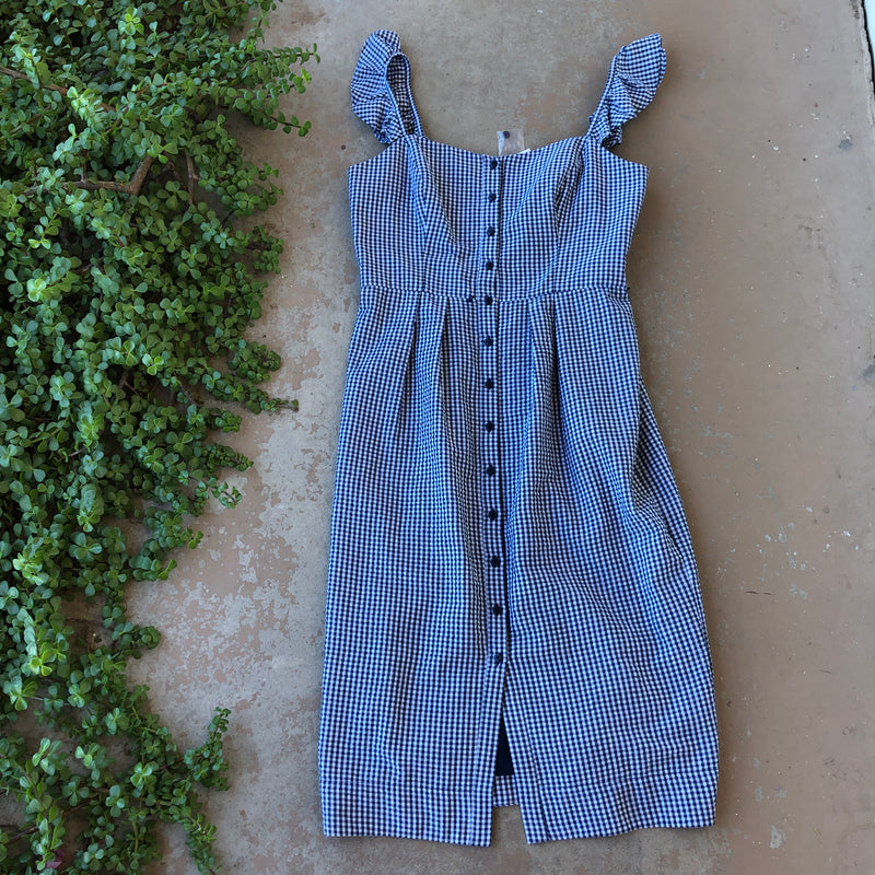 Gal Meets Glam Gingham Dress, Size 12