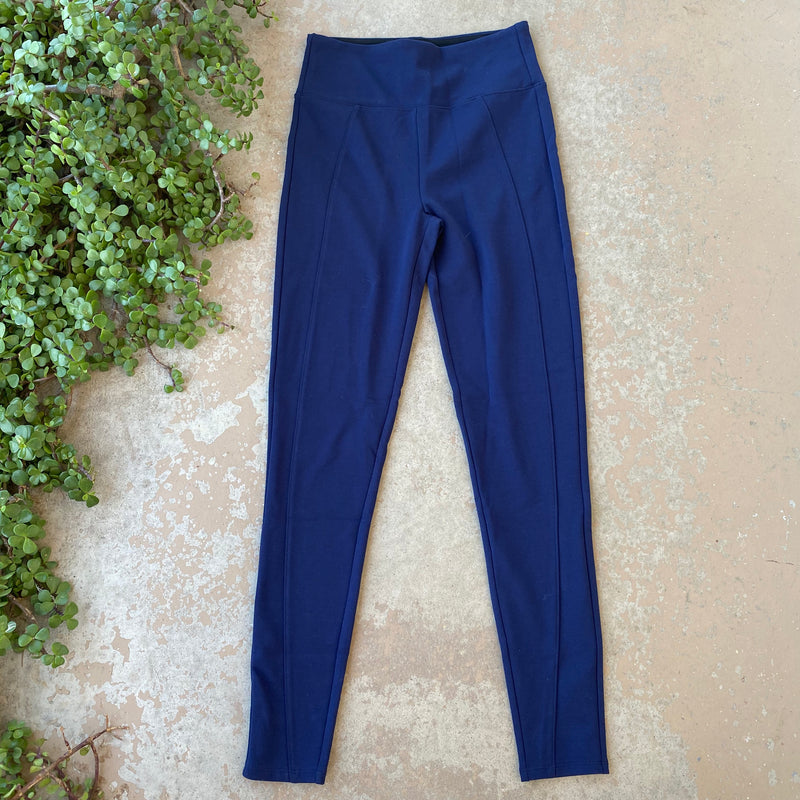 Spanx Assets Blue Leggings, Size Medium