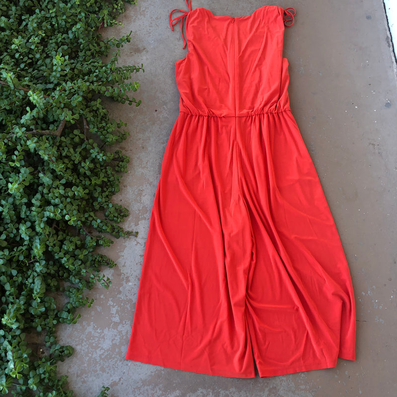Eliza J Red Jumpsuit, Size M