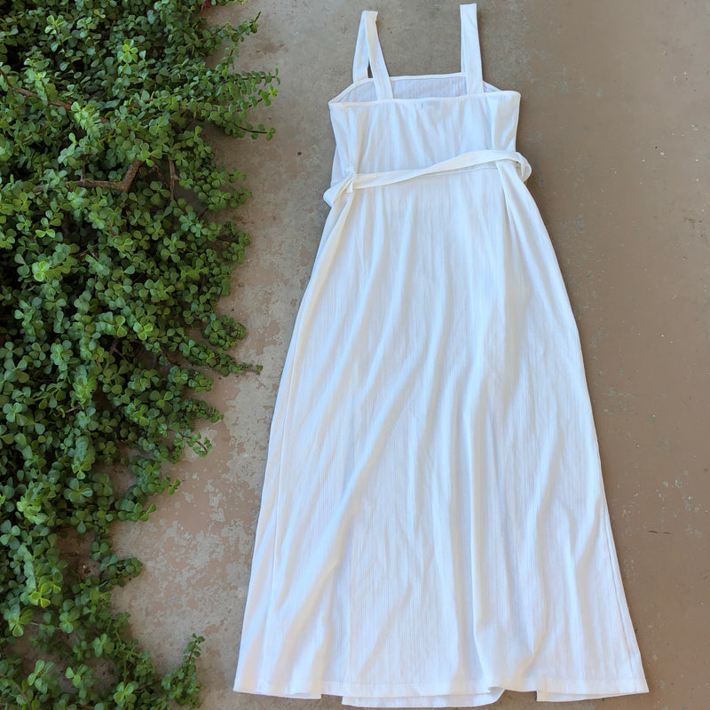 Topshop White Midi Dress, Size US 8