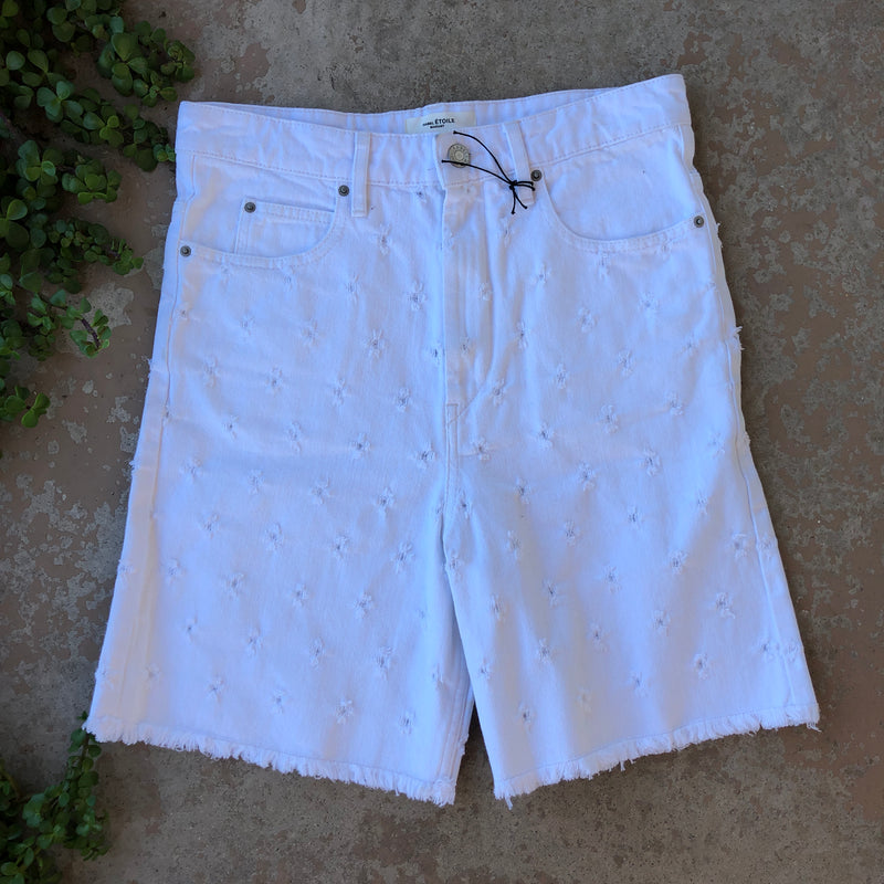 Isabel Marant White Shorts, Size FR 36 (US 2-4)