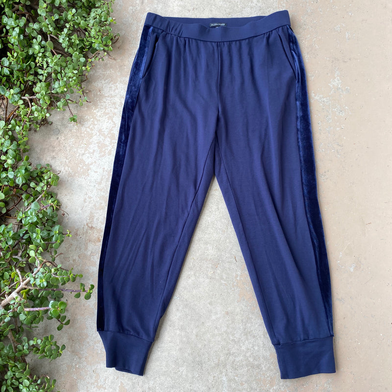 Eileen Fisher Navy Lounge Pants, Size Medium