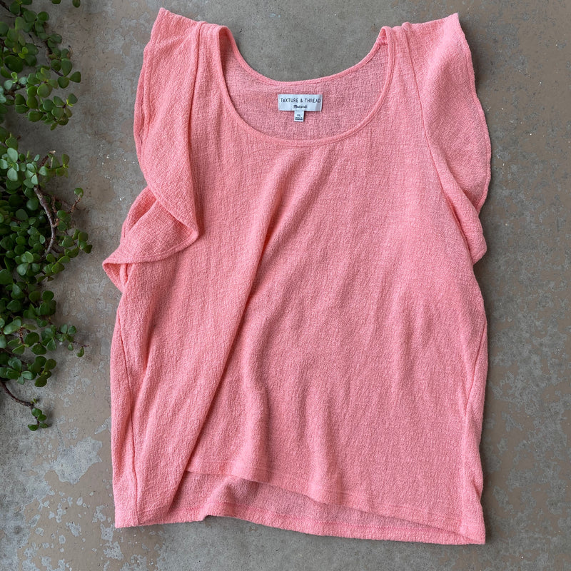Madewell Coral Top, Size XL