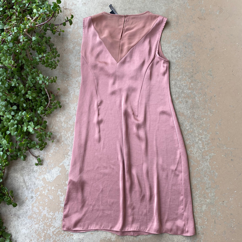 AllSaints Mauve Satin Dress, Size US 6