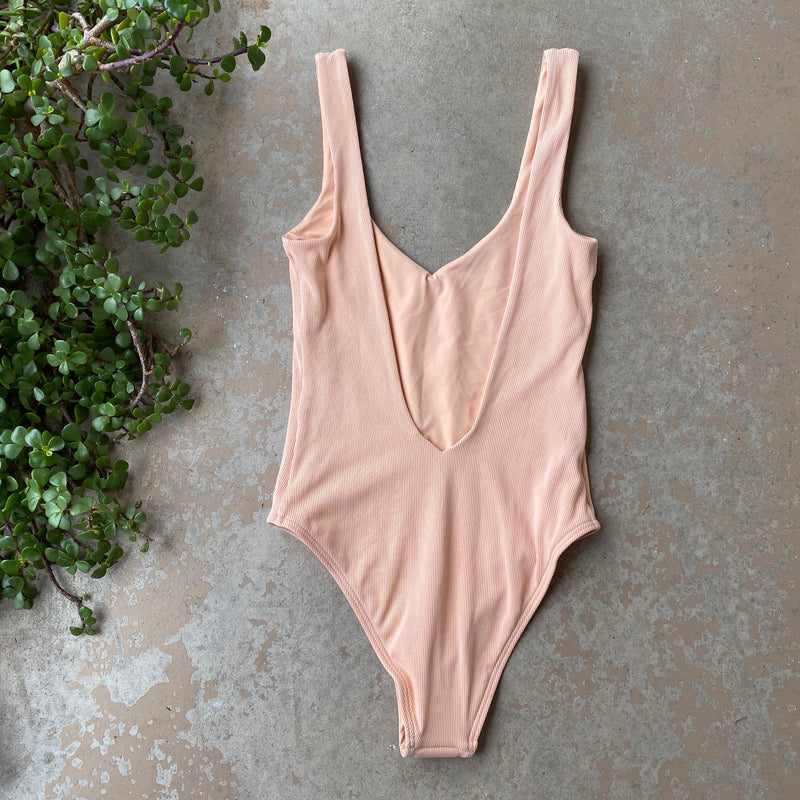 L*Space Peach Reversible One Piece Swimsuit, Size 6
