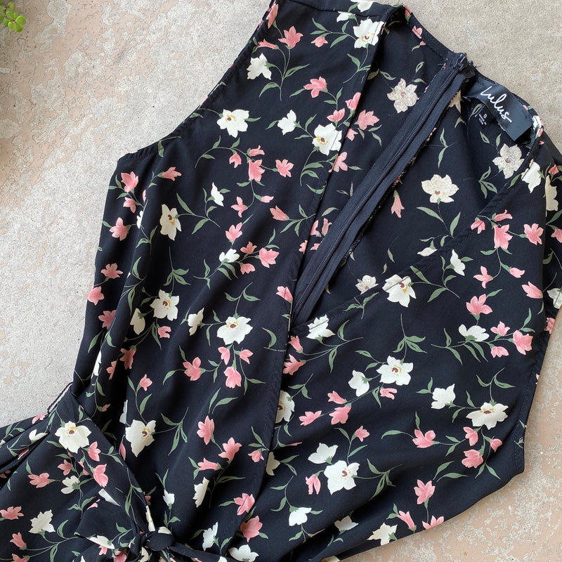 Lulu's Floral Jumpsuit, Size Small