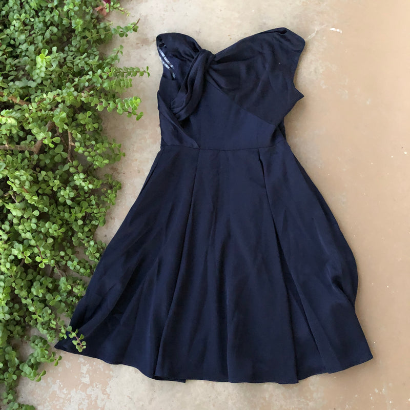 Gal Meets Glam Navy Dress, Size 4P