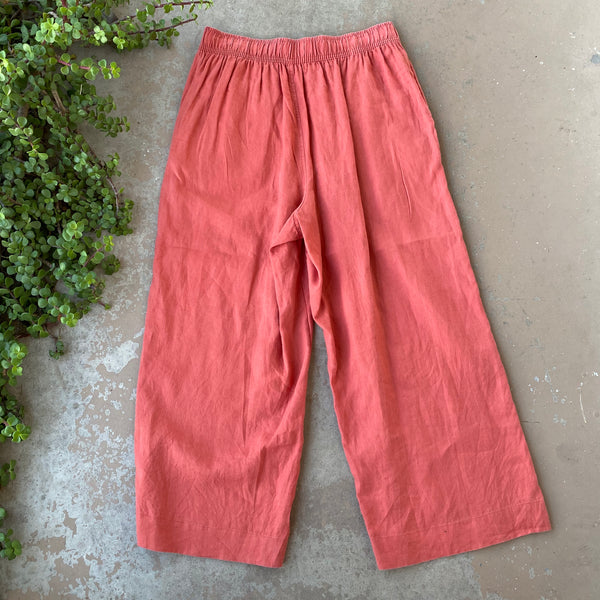 Tahari 100% Linen Wide Leg Pants, Size Large