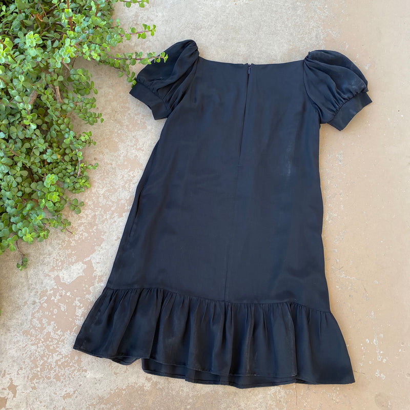 Made in LA Black Silk Dress, Size Medium