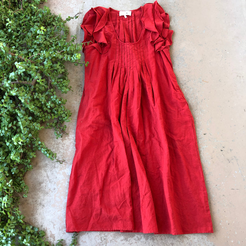 The Great Linen/Cotton Midi Dress, Fits Size M/L