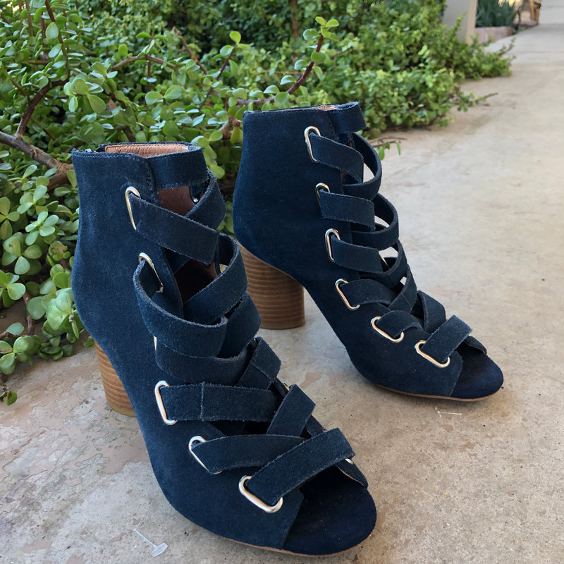 Jeffrey Campbell Blue Suede Heels, Size 7