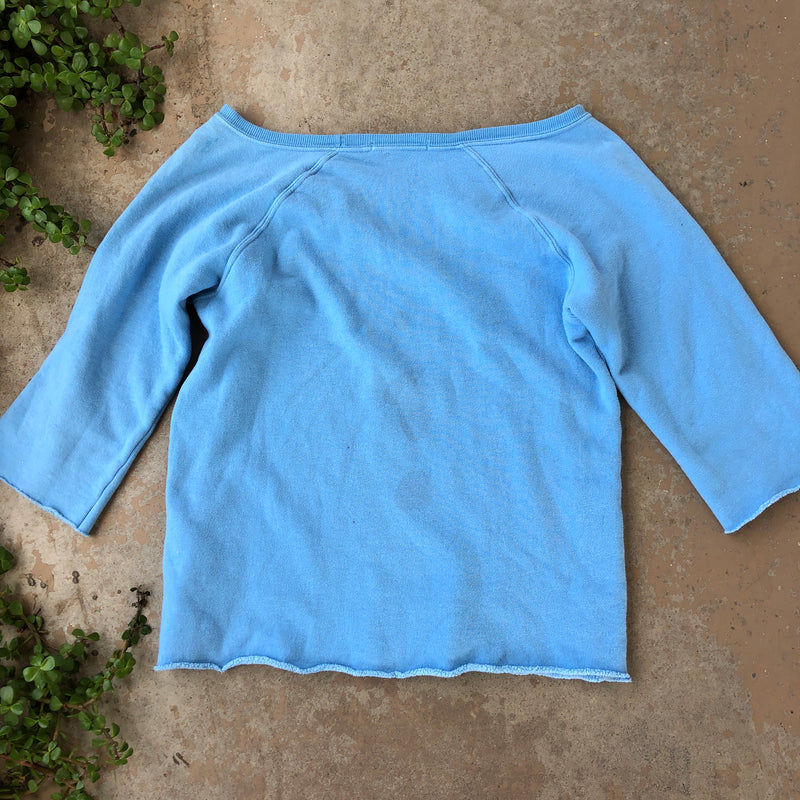 Wildfox Fangs Blue Pullover, Size Small