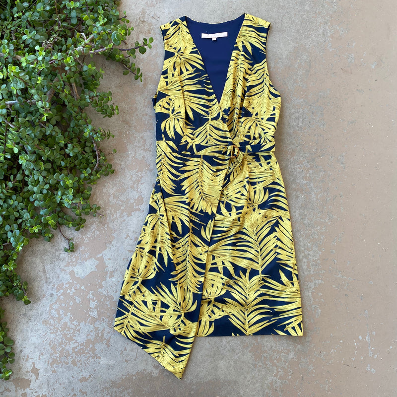 Hutch Tropical Wrap Dress, Size Small