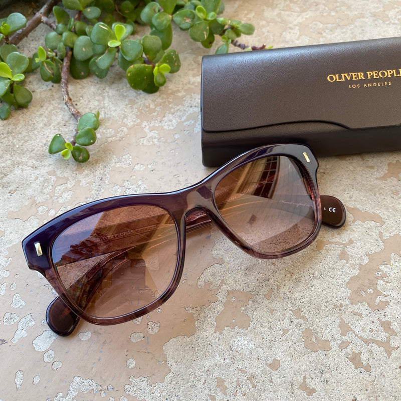Oliver Peoples Sofee Purple Sunglasses with Case