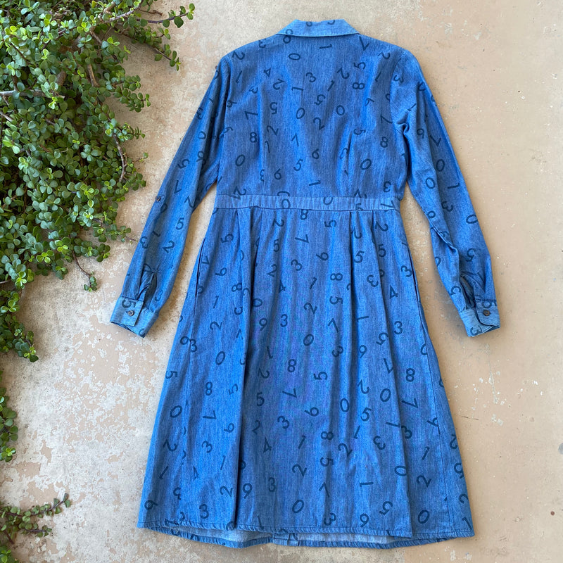 Modcloth Math Chambray Shirt Dress, Size 10