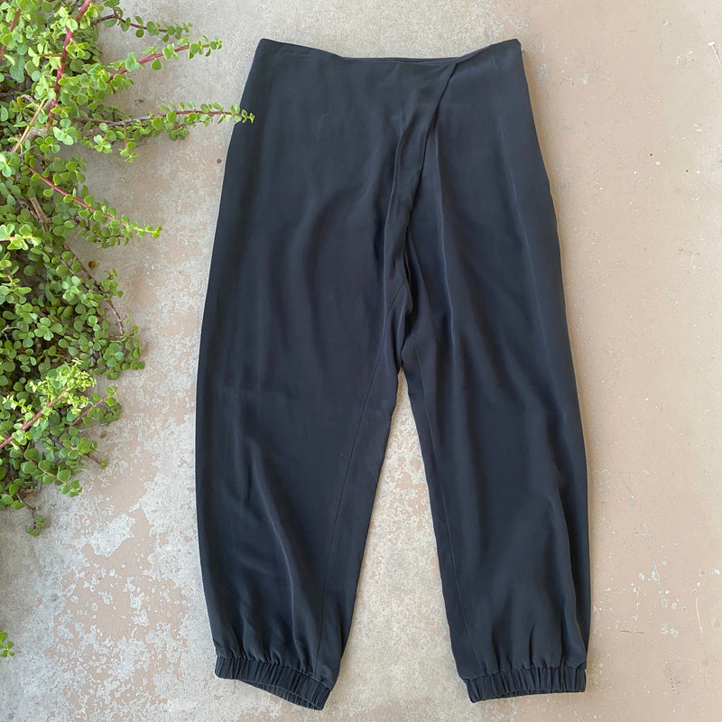 COS Silk Cross Front Joggers, Size 8
