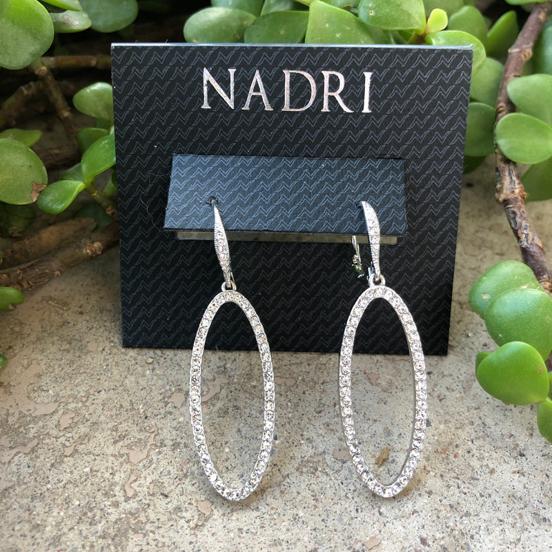 Nadri Crystal Dangle Earrings