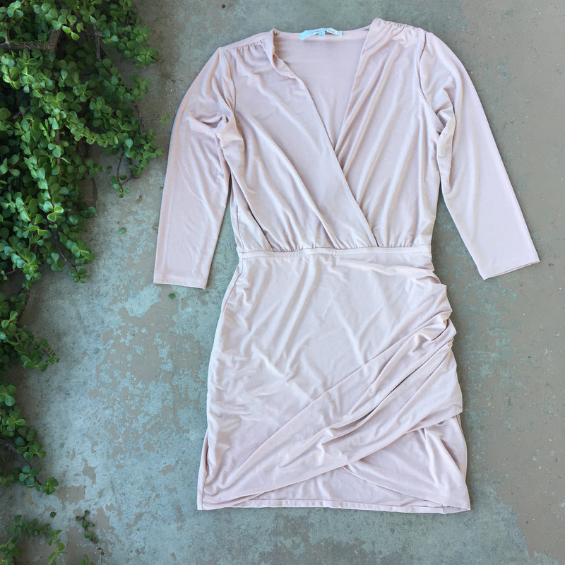 Lovers + Friends Nude Stretch Dress, Size Small