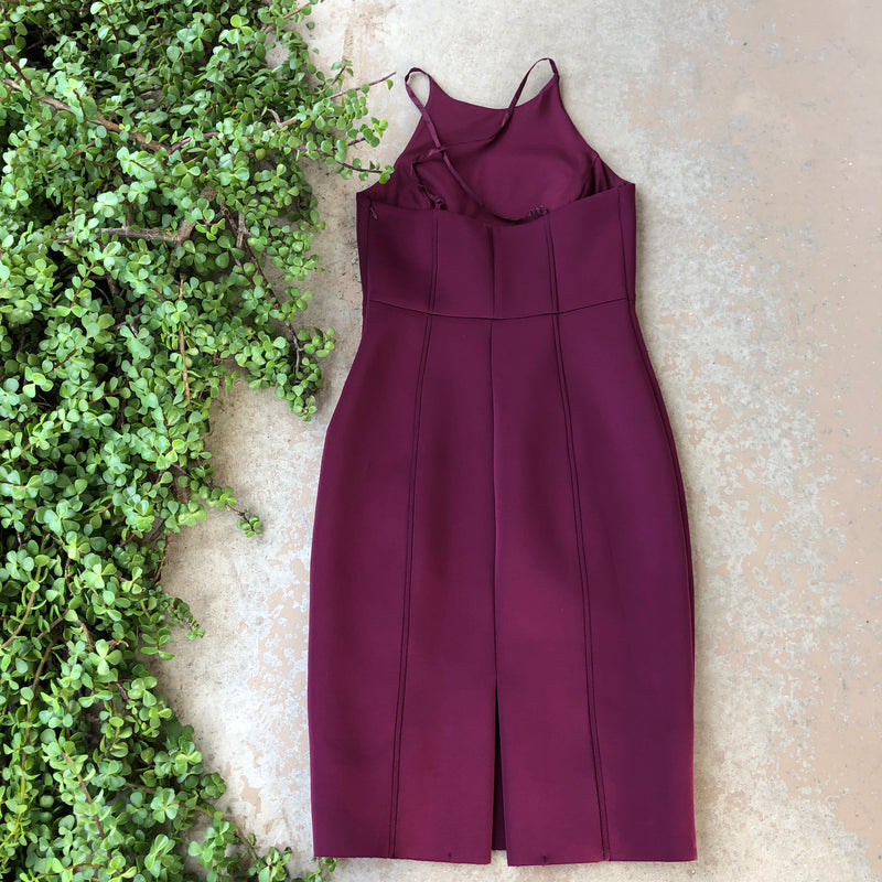 Chelsea 28 Maroon Sheath Dress, Size 10