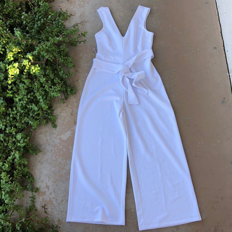 Leith White Jumpsuit, Size Medium