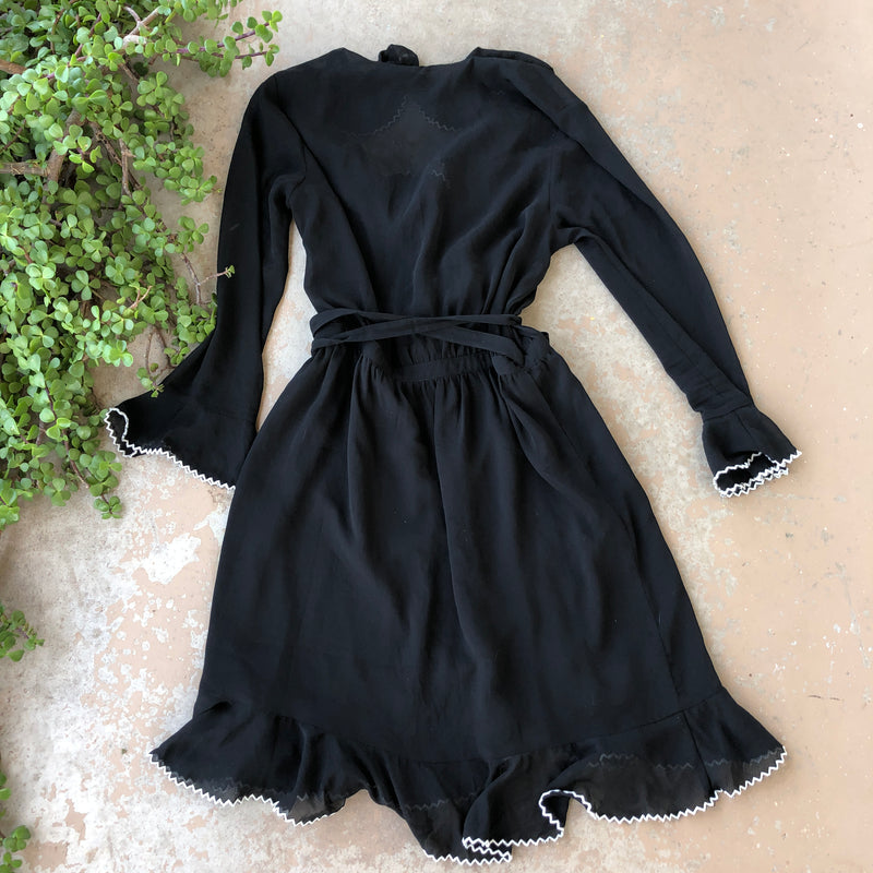 Scotch & Soda Black Wrap Dress, Fits like a Small
