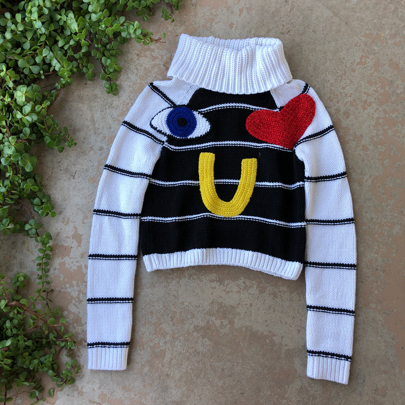 Alice + Olivia I Love You Sweater, Size XS