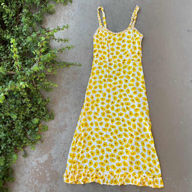 Faithfull the Brand Sunflower Midi Dress, Size 8