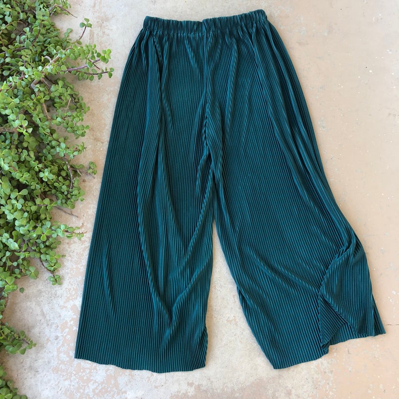 Vintage Wide Leg Crop Pants, Size Medium