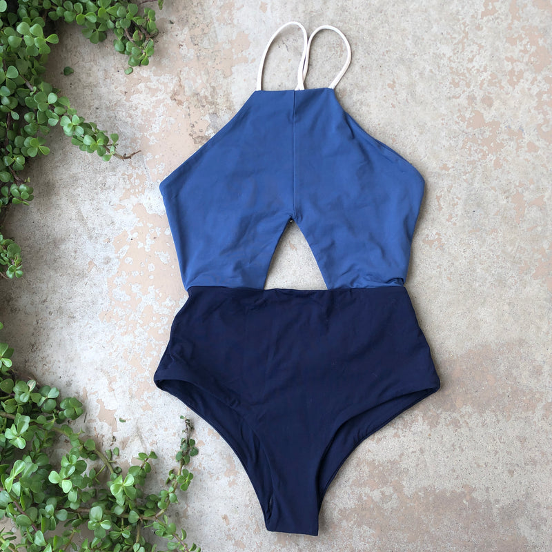 Tavik+ Colorblock One Piece Swimsuit, Size Small