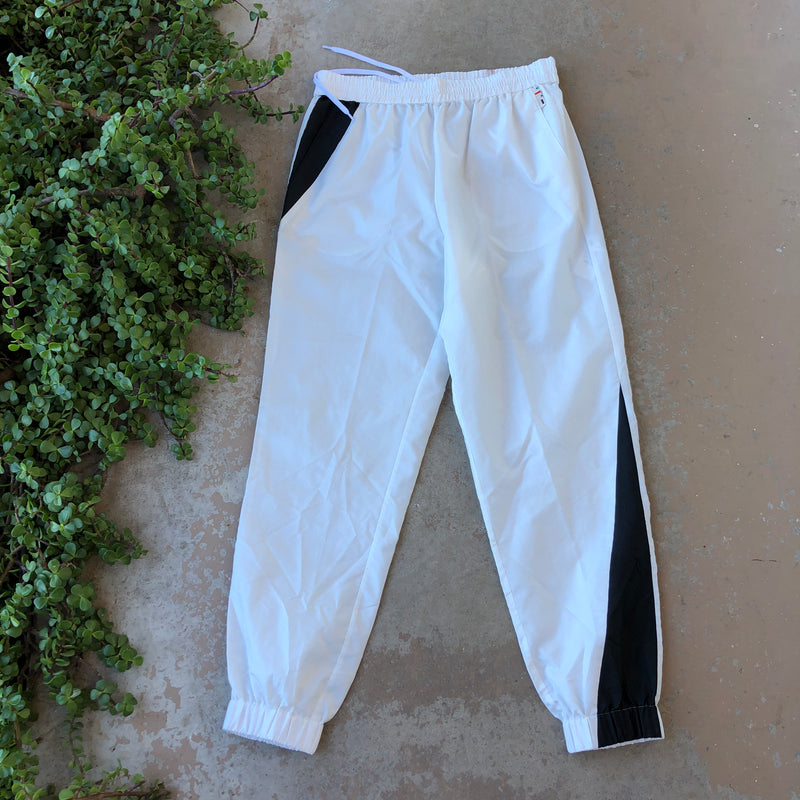 Tibi White Sporty Joggers, Size Medium