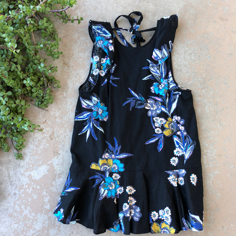 Free People Linen Floral Dress, Size XS