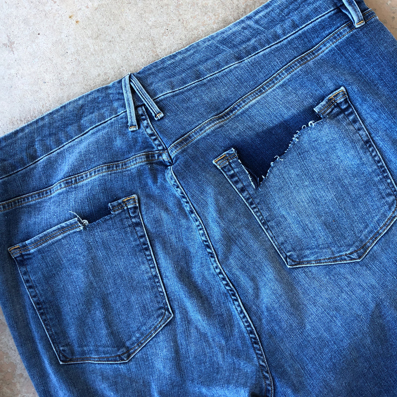 Good American Good Leg Distressed Jeans, Size 24 (Plus)