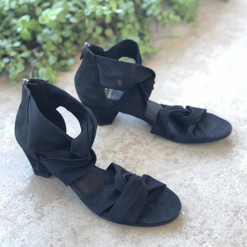 Eileen Fisher Black Strap Heel Sandals, Size 7