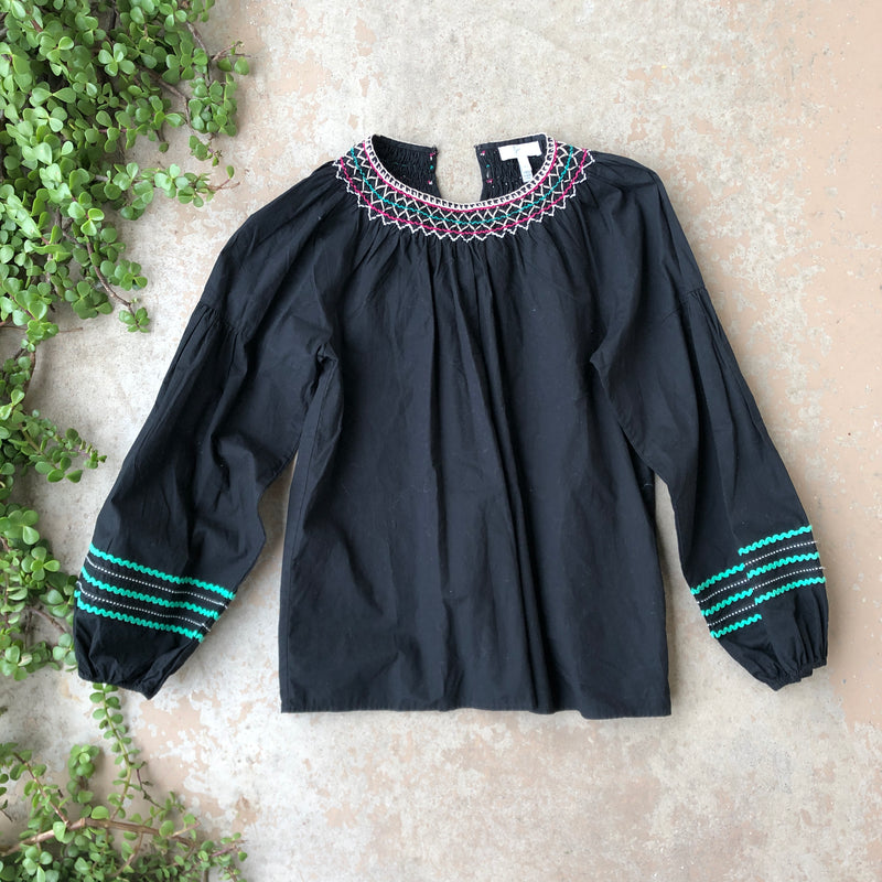 Joie Embroidered Top, Size XS