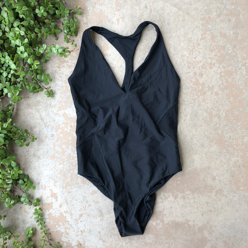 Sweaty Betty Black One Piece Swimsuit, Size Large