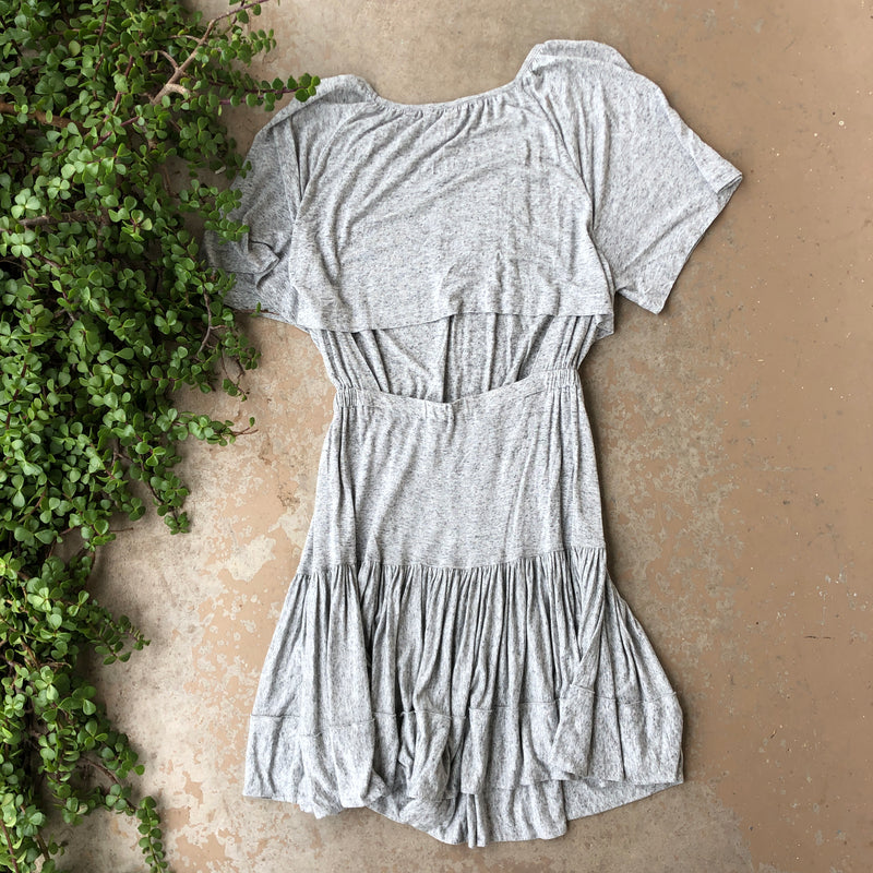 Rebecca Taylor Gray Soft Dress, Size Large
