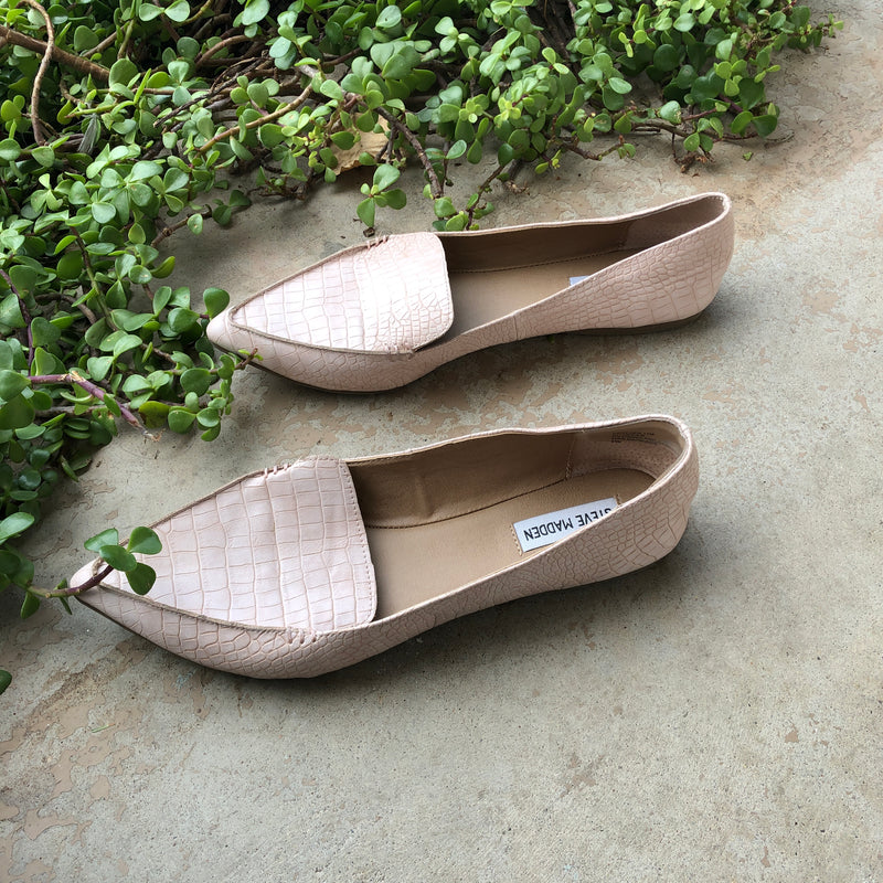 Steve Madden Python Texture Loafers, Size 11