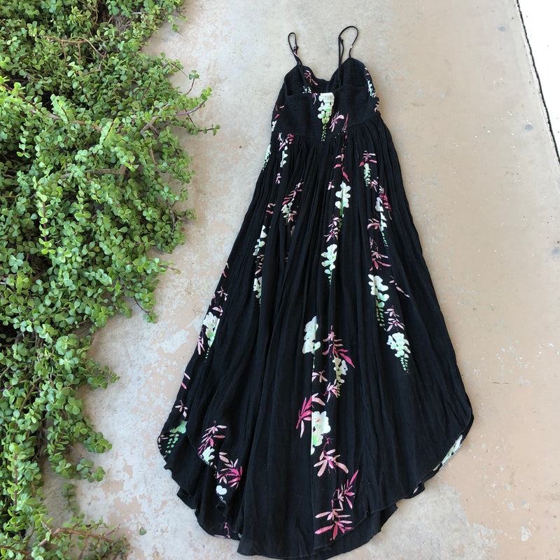 Free People Smocked Floral Dress, Size Medium