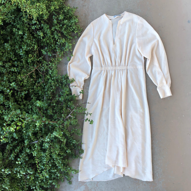 Vince Cream Textured Dress, Size Large