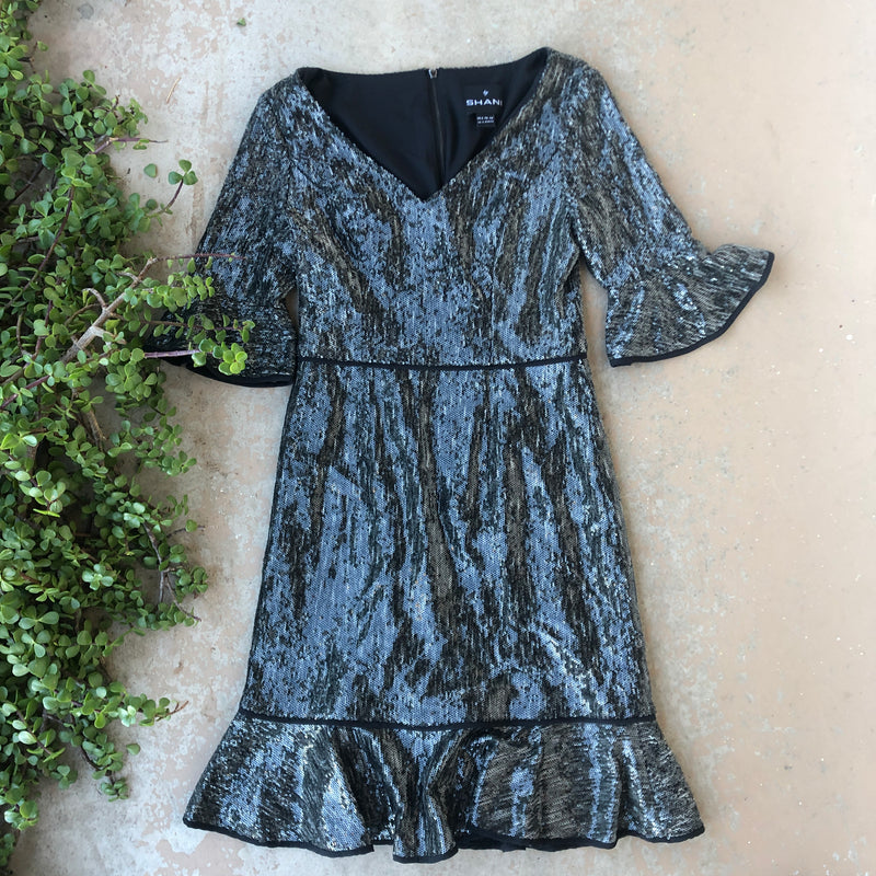 Shani Sequin Dress, Size US 2