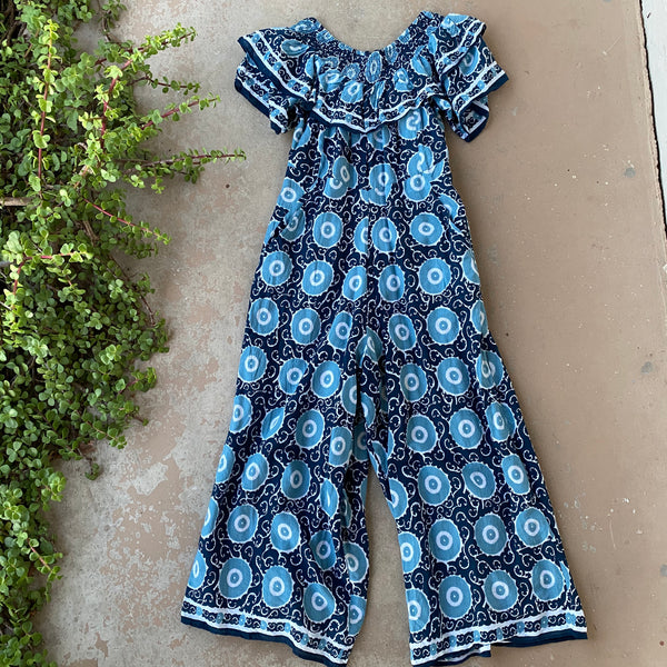 Kopal Cotton Blend Jumpsuit, Size Small