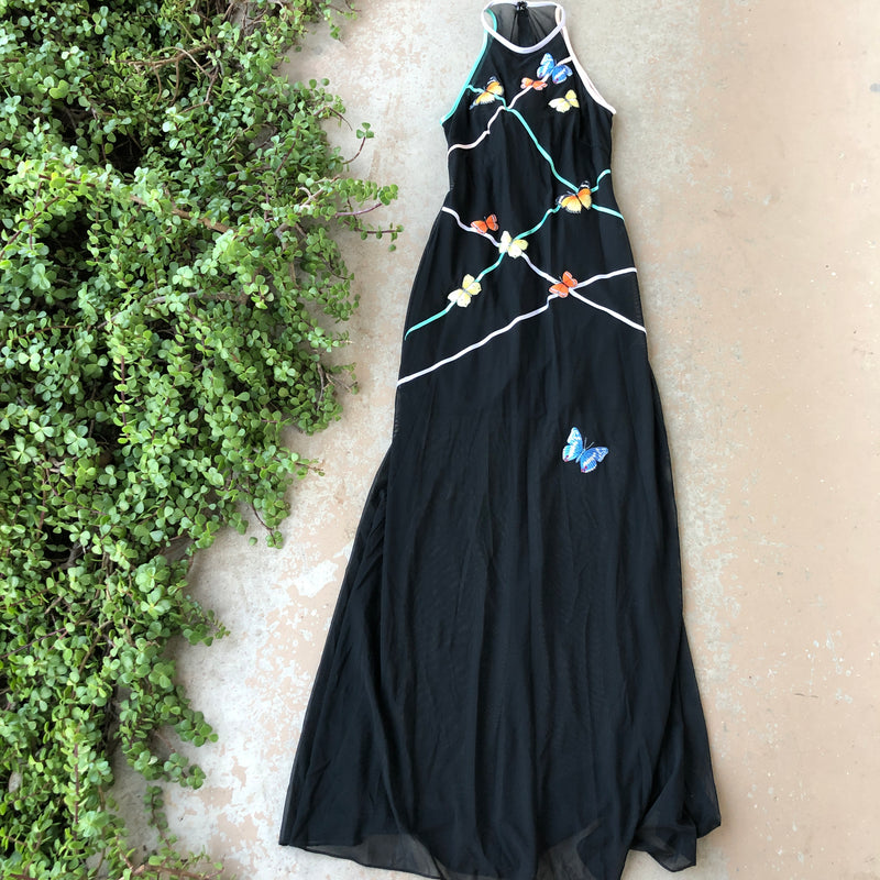 Tadashi/Cache Vintage Butterfly Dress, Size Small