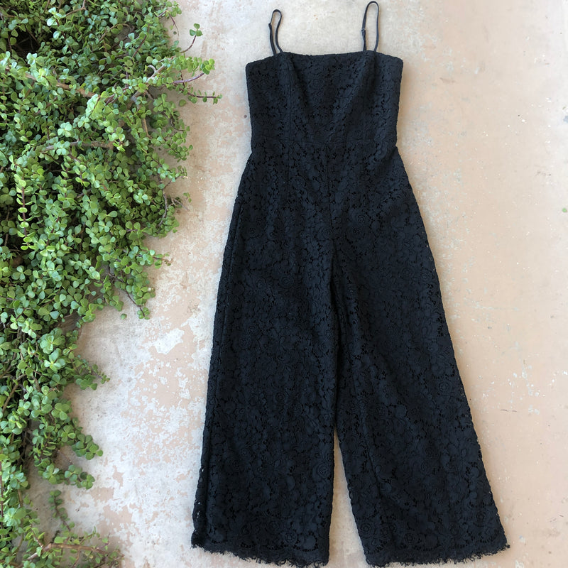 Bardot Lace Midi Jumpsuit, Size US 6/Small